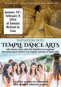 Temple Dance Arts Flyer