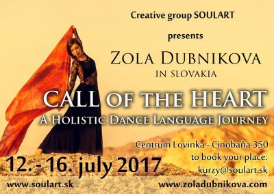 Call of the Heart – Holistic Dance Language Retreat Slovakia 2017
