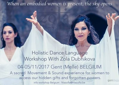 Holistic Dance Language workshop in Belgium 2017