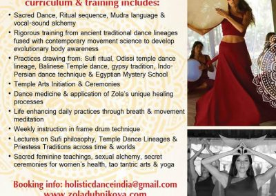 Two-month Mystery School, Temple Arts & Sacred Dance Training Goa India