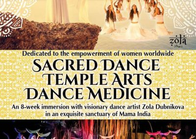 Two-month Mystery School, Temple Arts & Sacred Dance Training in Goa India